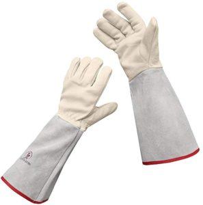 euphoria garden thornproff cuir rose gants de jardinage gantelet
