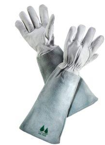 Gants de jardinage en cuir de marque Firtree Gants de protection en peau de mouton de première qualité avec manchons en daim en peau de vache