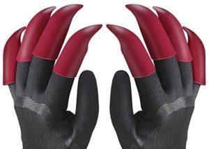 fx garden gloves with 8 fingertips claws