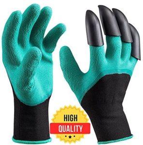 garden genie gloves with claws waterproof