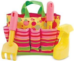melissa & dough sunny patch blossom bright gardennig tote set with tools