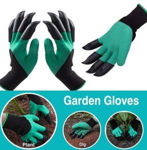 websun garden genie waterproof gloves with claws