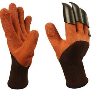 wekoli garden genie gloves with fingertip claws for digging