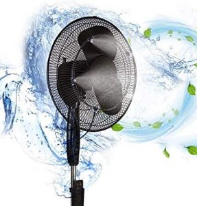 h&G lifestyle outdoor fan misting kit for patio water mister cooling