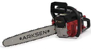 arksen 45cc gasoline powered chainsaw wood cutter 22 inch