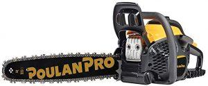 poulan pro 20 inch 50cc 2-cycle gas chainsaw pr5020