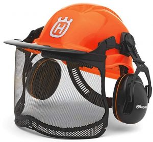 Husqvarna 577764601 Pro Forest Helmet System with Visor and Hearing Protection