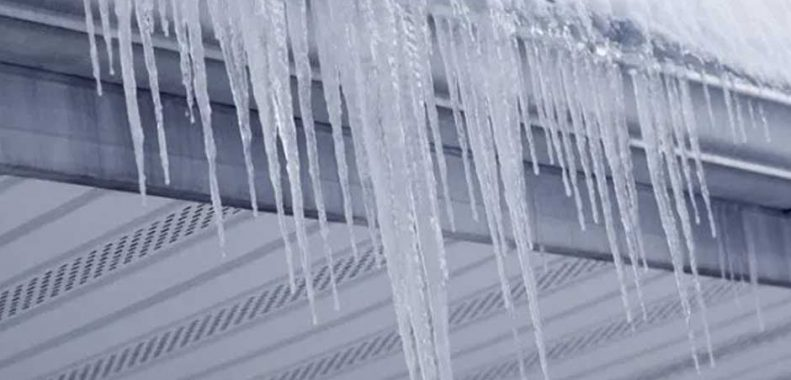 How to prevent icicles from forming in gutters