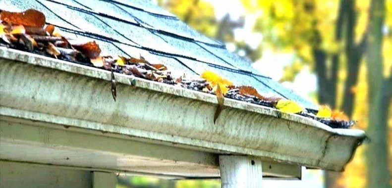 How to clean leaf guard gutters