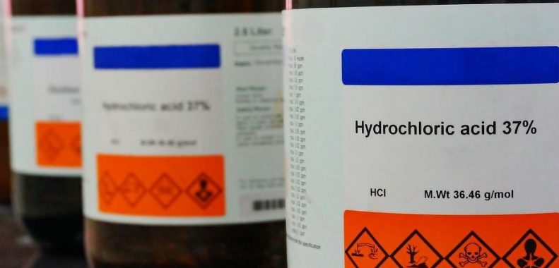how to neutralize muriatic acid