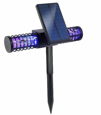 BATTOP Solar LED Lamp and Bug Zapper