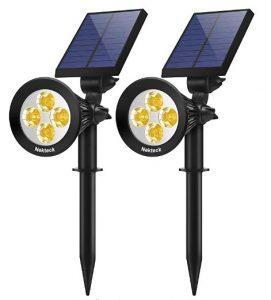 Nekteck 2 in 1 Outdoor Solar Spotlights