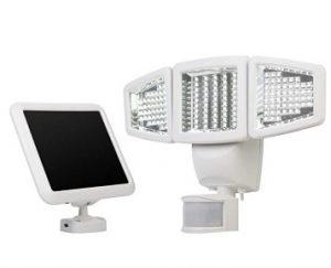 Sunforce 120 LED Triple-Head Solar Motion Flood Light