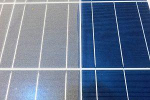Half solar panel clean Half dirty