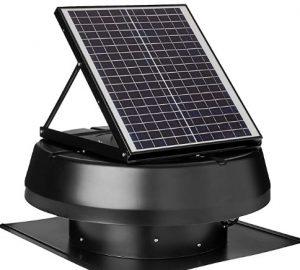 iLIVING Smart Exhaust Solar Roof Attic Exhaust Fan