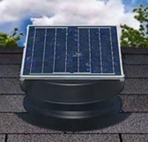 natural attic solar fan