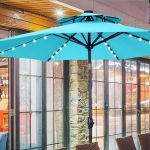 best patio umbrella with solar lights